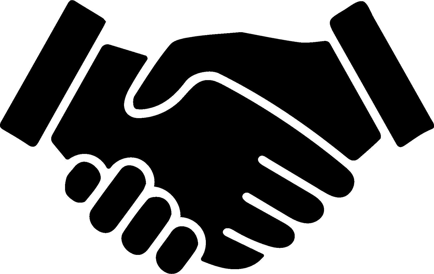 Schwarze händeschüttel Illustration, Kundenservice