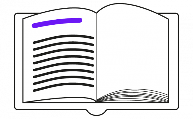 Illustration von einem Inhaltsverzeichnis